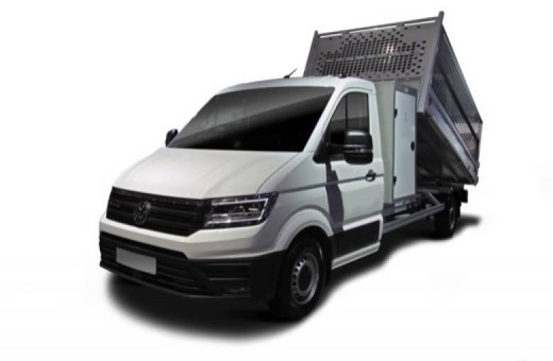 VOLKSWAGEN UTILITAIRES CRAFTER CHASSIS BENNE CRAFTER CSC BENNE COFFRE PROPULSION (RJ) 35 L3 2.0 TDI 177CH  BUSINESS LINE - véhicule neuf - LEMAUVIEL AUTOMOBILES - Présentation site web V2