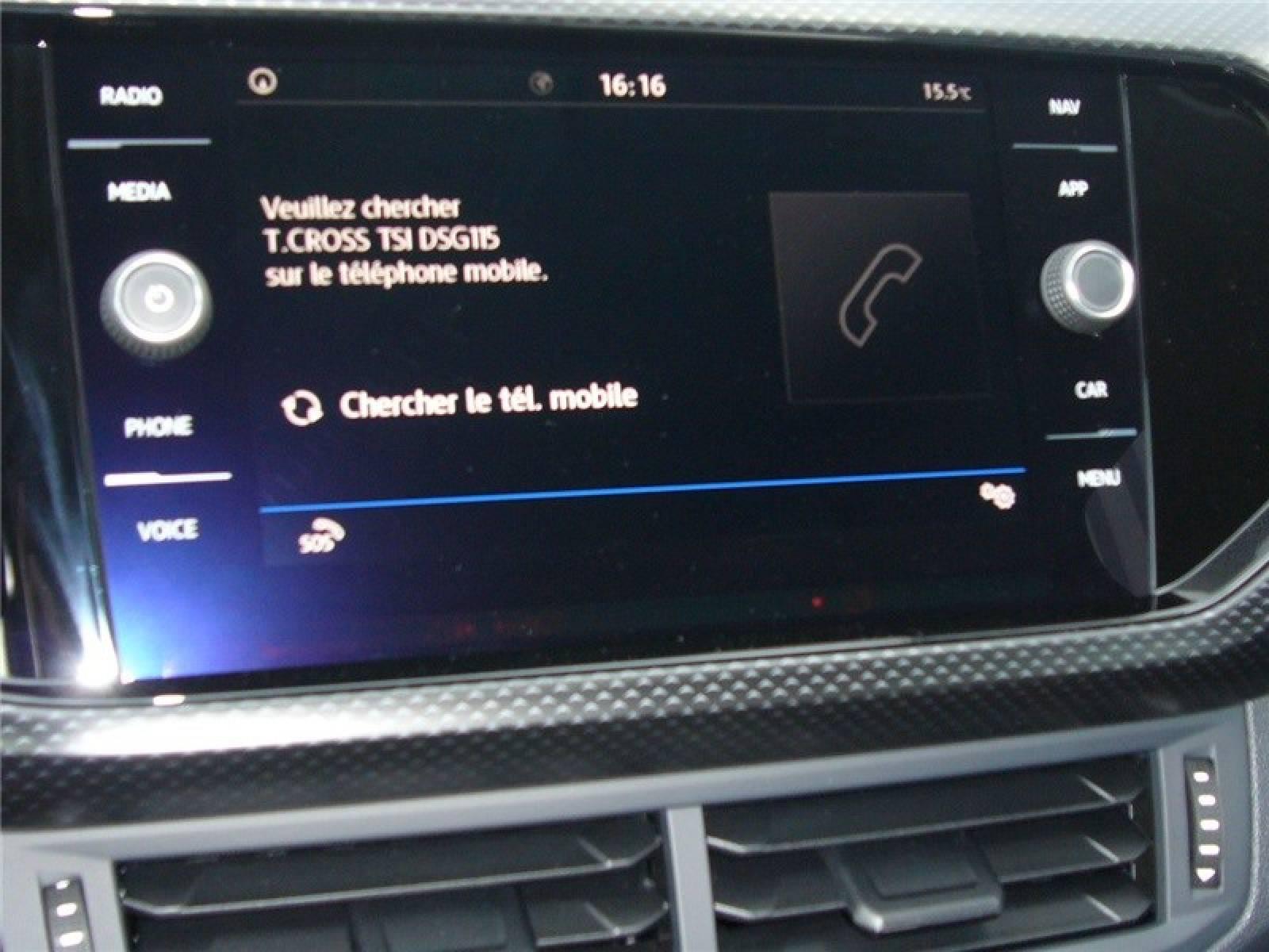 VOLKSWAGEN T-Cross 1.0 TSI 115 Start/Stop DSG7 - véhicule d'occasion - LEMAUVIEL AUTOMOBILES - Présentation site web V2 - Lemauviel automobiles - AVRANCHES - 50300 - LE VAL-SAINT-PÈRE - 16